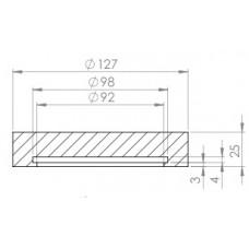 Podloga za dvigalo fi 127 x 25 mm (notranja višina 9mm)